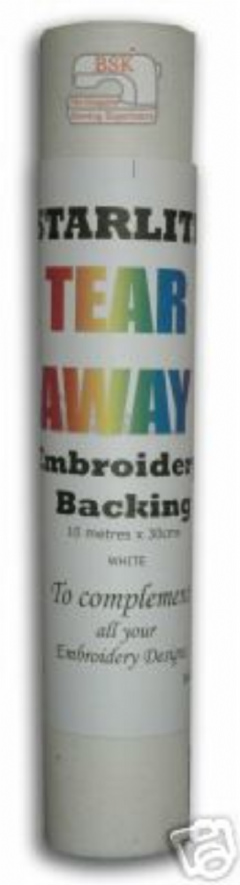 A087 Tear Away Embroidery Backing / Stabiliser 10mtr x 30cms